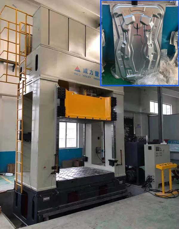 800吨框架式液压机_汽车配
